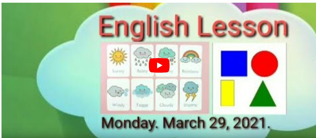 English Day Monday. March 29,2021